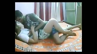 see indian college teen enjoying in home