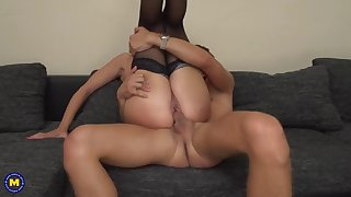 hungry mature mom suck and fuck hung son